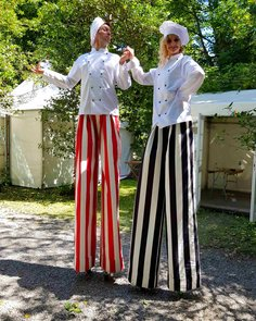 Chef Stilt Walkers