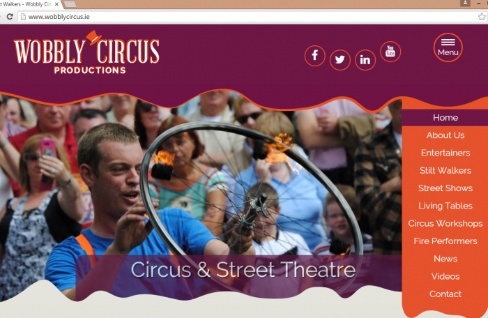 wobbly circus website